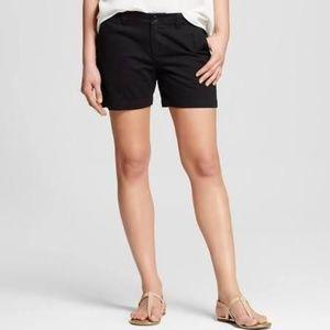 Merona Black Chino Shorts